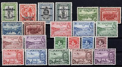 P24755/ Papouasie Papua 1932 / 1941 Lot Neuf / Mint Mh 95 €