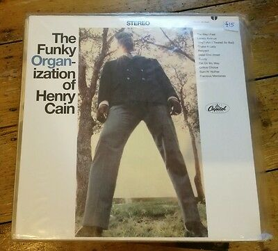 The Funky Organ-Ization Of Henry Cain! Lp St 2688 Sealed!