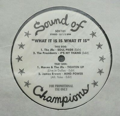 """Various - What It Is Is What It Is 12"""" Soc101 Sound Of Champions Promo Vg+!"""
