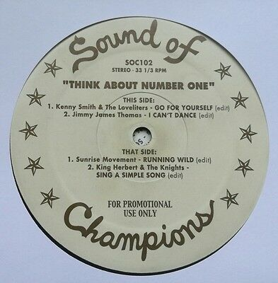 """Various - Think About Number One 12"""" Soc102 Sound Of Champions Promo Vg+!"""