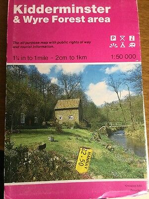 Kidderminster and Wyre Forest Area by Ordnance Survey (Sheet map, folded, 1988)