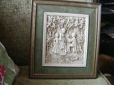 RARE VINTAGE ~ MARCUS DESIGNS  WALL PLAQUE Medieval themed No 2