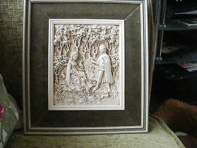 RARE VINTAGE ~ MARCUS DESIGNS  WALL PLAQUE Medieval themed No 1