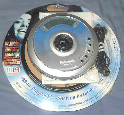 New sealed 2003 PANASONIC SL-MP70 portable cd player - shockwave MP3 discman