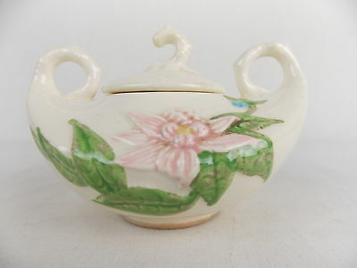 Vintage Hull Pottery W28 Woodland Sugar Bowl with Lid  #2806