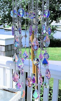 Kirks Folly Go Ask Alice White Rabbit Pastel Crystal Wind Chime ~~New Release~