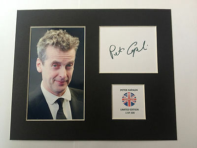 Limited Edition Peter Capaldi Dr Who Signed Mount Display AUTOGRAPH DOCTOR WHO
