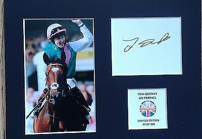 Limited Edition Tom Queally Frankel Signed Mount Display AUTOGRAPH HORSE RACING
