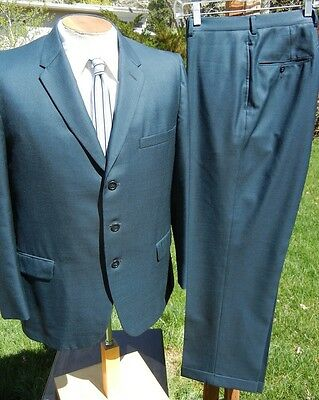 Super Shiny Vintage 1950s 1960s SHARKSKIN Suit 42S 34x29 - Alterable & In Style