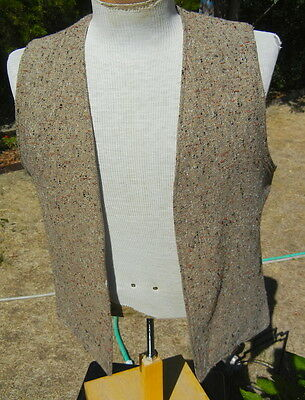 Vintage 1960s Tweed HIPPIE Vest MEDIUM / LARGE - The MACH 2 by ARROW - Free Ship