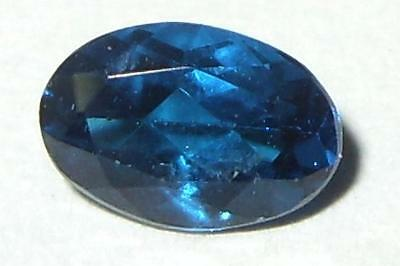 .52ct Extremely Rare Faceted Brazil Peacock Blue Apatite Oval