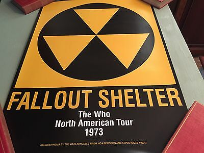The Who North American Tour 1973, Fallout Shelter Fan Club Replica Poster