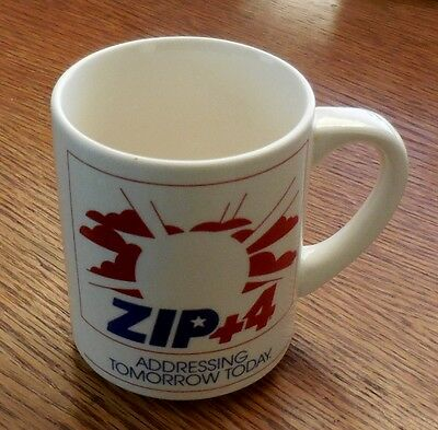 Vintage 1983 Postal Service Zip Code Coffee Cup Mug, Post Office, Free Shipping