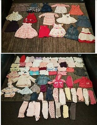 baby girls 6-9 months clothes bundle 86 items
