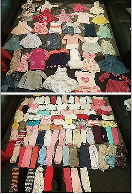 baby girls 6-9 9-12 months clothes bundle 131 items
