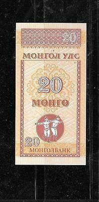 Mongolia #50 1993 Mint Crisp Old 20 Mngo Banknote Note Bill Paper Money Currency