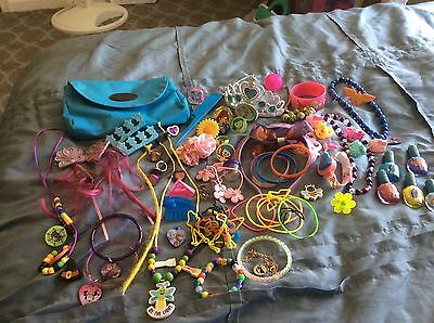 Girls /Large Lot of JEWELRY, HAIR ACCESSORIES & NEW NAIL POLISHES / VGC to EUC