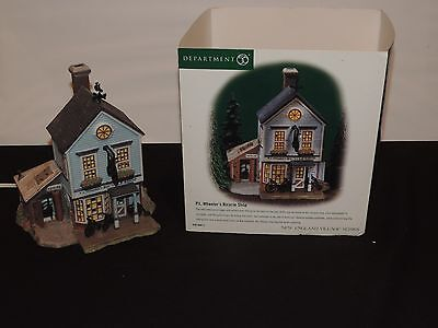 Dept 56 New England P.L. Wheeler's Bicycle Shop Mint In Box 56613 Depatment 56