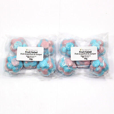 Bee Beautiful 10 x Mini Flower bath bombs 10g wedding favour gifts various scent