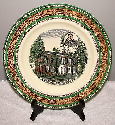 "Adams Staffordshire England 10"" ""My Old Kentucky Home"" Stephen Foster Plate VGD"