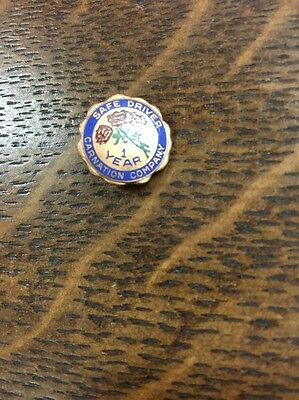 Vintage Carnation Dairy Milk Ice Cream 1 Year Safe Driver employee Service Pin