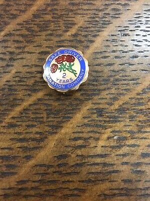 Vintage Carnation Dairy Milk Ice Cream 2 Year Safe Driver employee Service Pin