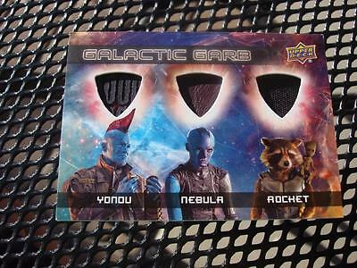 017 GUARDIANS OF THE GALAXY Vol 2 CARD TRIPLE GALACTIC GARB COSTUME RELIC TM-2