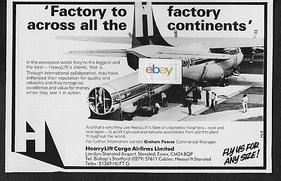 Heavylift Cargo Airlines Bristol Belfast Factory-Factory Across All Continent Ad