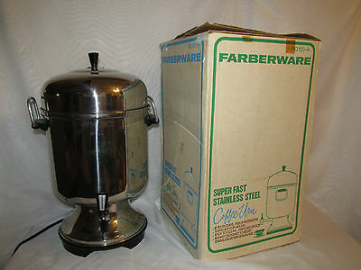 VINTAGE Farberware Model 155A Automatic 55 Cup Electric Coffee Urn Super Fast IB