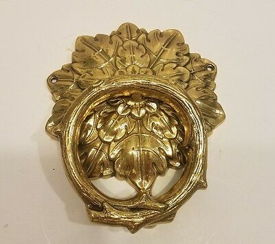 Classic Brass door Knocker Leaf and Vine