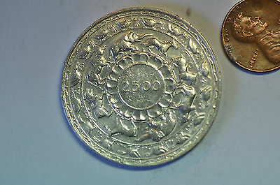 mw8740 Ceylon; Silver 5 Rupees BE2500-1957 - 2,500 years of Buddhism   KM#126