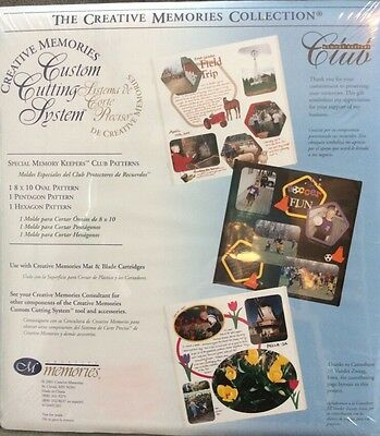 Creative Memories Special Keeper Club Cutting Pattern Oval Pentagon Hexagon New
