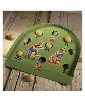 Bethany Lowe Easter Vintage German Style Tin Spring Roll-A-Ball game New
