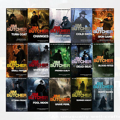Dresden Files Series Jim Butcher 15 Books Collection Set Ghost Story,Death Masks
