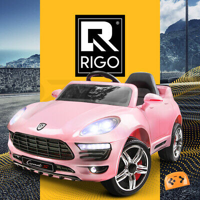 RIGO Kids Ride-On Car PORSCHE MACAN Style Electric Toy Remote 12V Battery Pink