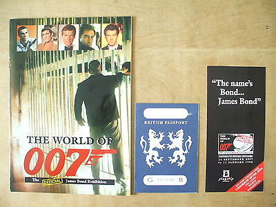 The World Of 007 - James Bond Exhibition Book And Passport Pamphlet