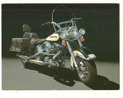 Harley Davidson Motorcycle - a photographic postcard