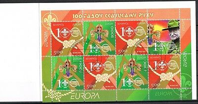 Weißrußland  663/64 MH 15  o Europa 2007 Booklet (3155)