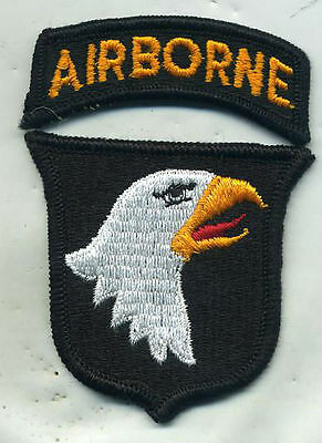 Vintage 101st Airborne Division Color Patch W/TAB FACEING RIGHT Reverse Side