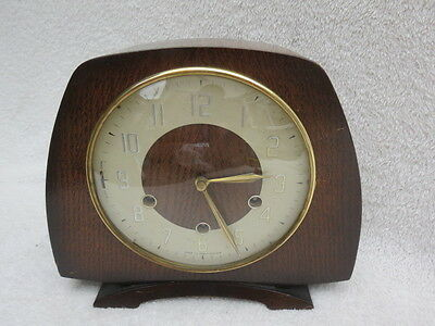 Vintage Smiths Lisbon Westminster Chime Floating Balance Mantel Clock For Tlc