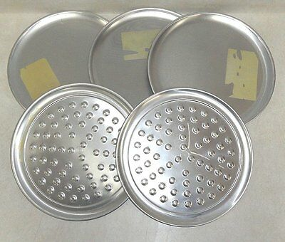 """LOT of 5 AMERICAN METALCRAFT 12""""  PIZZA PANS"""