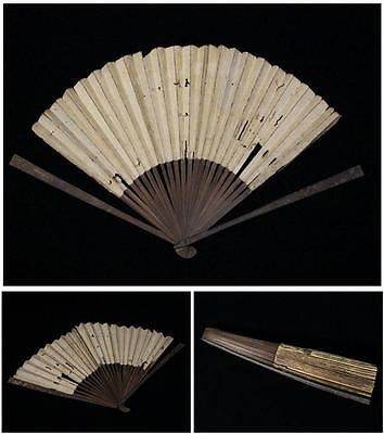 #1 Japanese iron ribbed gold fans Sensu Tessen  Yoroi Armor bushi Fan armour