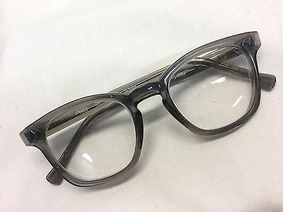 New AO 3m Safety Eyeglasses Glass Z87 Lenses 48 Eye Authentic Horn Rim Hipster