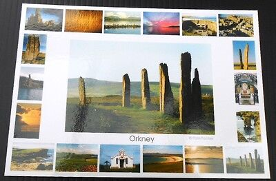 Orkney postcard - Ring of Brodgar & multi view, immaculate