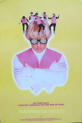 PET SHOP BOYS - POSTER - I  Wouldn't Normally Do This Kind Of Thing Rare PROMO