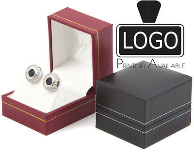 Classic Luxury Leatherette Earrings Jewellery Gift Boxes (SC01)