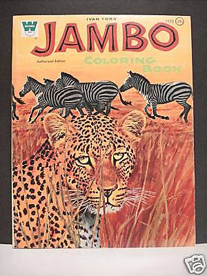 Jambo Tv Series Coloring Book 1970 U.s.a. Whitman