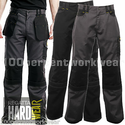 Regatta Hardwear TRJ335 Holster Work Trousers Pants Cargo Knee Pad Pockets Heavy