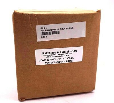 New Sealed Antunes Jd-2-Grey Pressure Switch 801111302 Jd2Grey