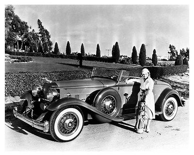 1932 Packard 8 Deluxe Convertible Coupe Factory Photo Actress Madge Evans uc6136